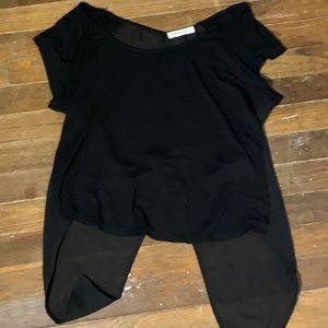 black flowy t-shirt